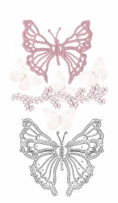 borboleta croche grafico