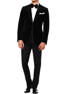 D&G; Velvet Tuxedo Jacket. The jacket would have looked better if it was a one button jacket and the button was about an inch lower.