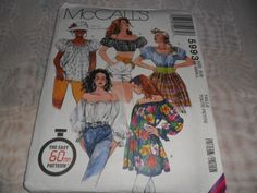 PEASANT BLOUSE PATTERN SIZE 6-8 THREE LENGTHS UNCUT | Poshpatterns - Craft Supplies on ArtFire