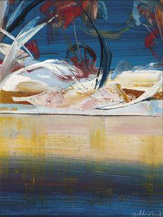 Arthur Boyd (Australia 1920-1999) Shoalhaven Quartet (panel III) c.1981 oil on copper 25.5 x 19.0 cm