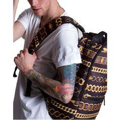 ad5bfa0dedb4 Sprayground.9.Chainz.Deluxe.Backpack.-.999.9.Collection.(black. .gold)