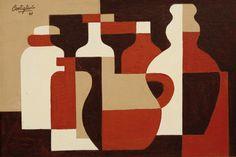 José Pedro Costigliolo - Abstraction [1948] | Flickr - Photo Sharing! Cubist Artists, Cubism Art, Kunst Inspo, Art Inspo, Art And Illustration, Composition Art, Abstract Geometric Art, Guache, Fine Art Auctions