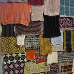 patchwork wall by Hasegawaseen at Pitti Immagine Filati 77in Florence.