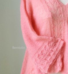 Stunning! Pink lace mohair sweater B195 by Berniolie on Etsy, $140.00