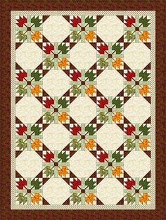 I love maple leaf quilts. I haven't seen this style before. Tutorial can be found on this sight.