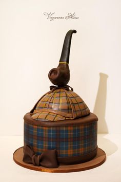 www.cakecoachonline.com - sharing....Sherlock Holmes cake - Cake by Alina Vaganova