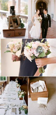 such a beautiful and simple wedding. love the colors, love the cake, love the bouquets