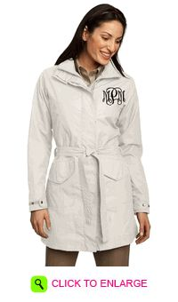 MONOGRAMMED IVORY TRENCH COAT
