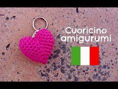 ergahandmade: Crochet Little Heart keychain amigurumi + Video Tutorial Crochet Hair Accessories, Crochet Hair Styles, Crochet Gifts, Knit Crochet, Knitted Heart, Amigurumi Tutorial, Crochet Keychain, Crochet Videos, Heart Shapes