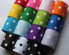 """Nueva pulgadas--Suiza Colección Dots - 1.5 """"del grosgrain (15 yardas, 15 colores diferentes)"""