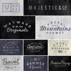 'Branding' - A beautiful collection of logo designs all by @jordengrotdal! // #typographyinspired #typography #type #graphicdesign #design #graphics #logo #branding #lettering #handdrawn #inspire #illustration #script #calligraphy