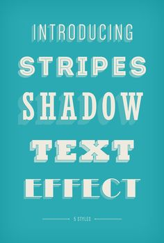 Stripes Shadow Text Effect, #Free, #Graphic #Design, #PSD, #Resource, #Retro, #Shadow, #Text_Effect, #Typography, #Vintage