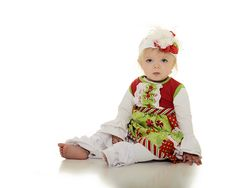 www.frostedproductions.com | #utah #photographer #studio #photography #adorable #baby #girl #christmas #outfit #ideas #red #and #green #white #background #blue #eyes