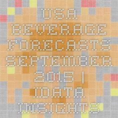 USA Beverage Forecasts September 2015   iData Insights