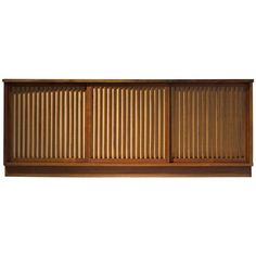 George Nakashima Cabinet with Walnut and Pandanus Cloth | From a unique collection of antique and modern credenzas at https://www.1stdibs.com/furniture/storage-case-pieces/credenzas/
