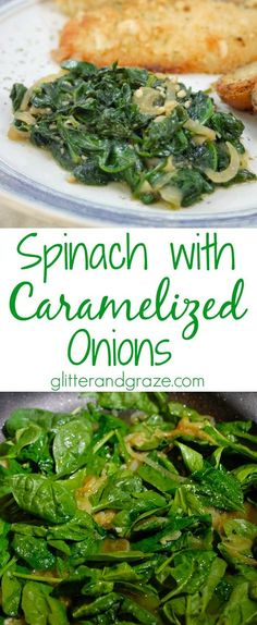 This spinach with caramelized onions recipe is a healthy side dish that is easy to make. The flavor combination will have your taste buds screaming