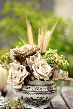 Craftberry Bush: Drop Cloth Rose Tutorial