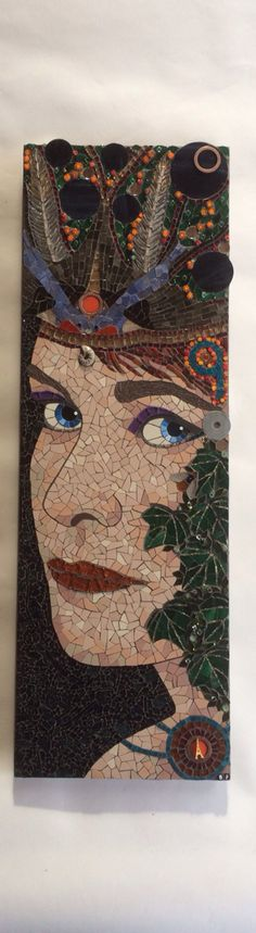 Mosaic self portrait of/by Becky Paton