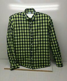 Mens Scotch and Soda Blue / Green Check Long Sleeved Shirt Size XL