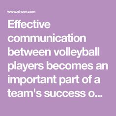 Effective communication between volleyball players becomes an important part of a team's success on the court. But fluid communication between volleyball players takes practice and work. Coaches that integrate communication drills during practice help establish a good rapport between teammates in addition to improving fundamental skills such as passing, setting, and hitting. Communication drills also help promote ball control and teamwork, which become the cornerstones to any good team. Volleyball Drills, Volleyball Quotes, Volleyball Gifts, Coaching Volleyball, Girls Softball, Volleyball Players, Girls Basketball, Basketball Cheers, Team Success