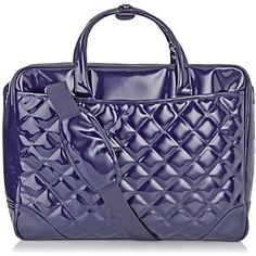 """(pictured is navy, not purple)  Purple Tulip 17.3"""" Fashion Laptop Case at HSN.com."""