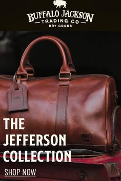 This vintage inspired collection of premium leather bags is perfect for men who appreciate quality and style. Handcrafted brown leather briefcase, attache, duffle, messenger bag, dopp kit, wallets, and more. Great gift ideas! Leather Duffle Bag, Leather Briefcase, Leather Satchel, Leather Bags, Duffel Bag, Mens Travel Bag, Travel Bags, Waxed Canvas Bag, Leather Men