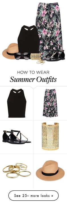 """""""Topical Outfit"""" by mmmartha on Polyvore featuring rag & bone, M&Co, Alice + Olivia, Forever 21 and Kendra Scott"""