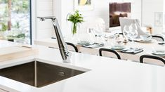 ALESSI Sense by Oras white kitchen faucet, Nordic interior design