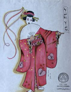The Mikado (Yum-Yum). Costume design by Kärin Kopischke. Create Yourself, Create Your Own, Costume Design, Opera, Costumes, Skylight, Yum Yum, Unique, Theatre
