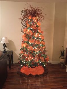 my christmas tree decoration burnt orange and brown color theme christmas tree ideas - Orange Coloured Christmas Tree Decorations