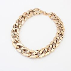 Simple Chic Style Thick Chain Necklace For Women, GOLD in Necklaces | DressLily.com