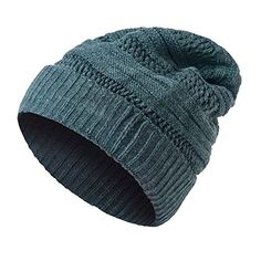 e28c4cab941 Unisex Oversized Cable Knit Slouchy Beanie Warm Thick Winter Hats Skull  CapGrey     Want
