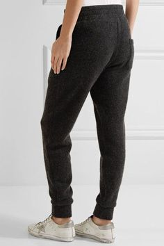 The Elder Statesman - Cashmere Track Pants - Charcoal