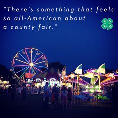 """""""There's something that feels so all-American about a county fair."""" - Anna Wilkerson Share with us what you love most about the #4HFair?"""