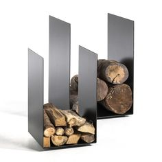 Porte-bûches Télio AM. Firewood Holder, Firewood Storage, Small Fireplace, Fireplace Tools, Wood Burning Fireplace Inserts, Fire Pit Grill, Log Holder, Home Furnishing Accessories, Pallet House