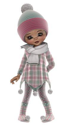 *Angie's Free Poser Tubes*: Kiki Winter soft Little Designs, Gifs, Paint Shop, Preschool Activities, Coloring Books, Tube, Crochet Hats, Clip Art, Dolls