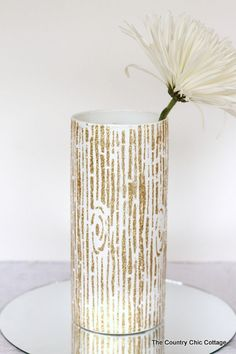 glitter faux grain vase, crafts