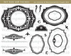 Very Vintage Labels No.18 (waltzing mouse UK) $26.40 Goes with Spellbinders Labels 18 die templates