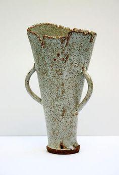 Ceramics by Jane Wheeler at Studiopottery.co.uk - Shino beaker 22cm x 12cm
