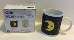 Color Changing Mug Night To Day Coffee Tea Cup 10 Ounce Celestial Moon Sun Stars #FineLineProducts