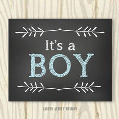It's A Boy Chalkboard Sign  16x20  INSTANT by LaurenADesigns, $4.00