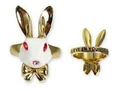 Alice in Wonderland White Rabbit Ring - Disney Couture