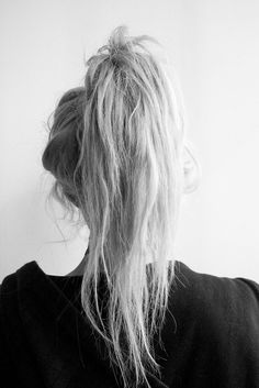 High messy ponytail