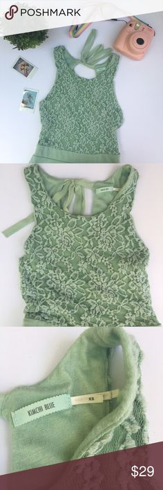kimchi blue urban outfitters mint green lace dress urban outfitters mint green lace dress with keyhole back & ribbon tie. beautiful flare to the skirt. size xs hardly worn. 🌸 I am professional ballerina making some extra income. I am open to offers/negotiations on prices, just keep in mind poshmark does take 20%. I am not responsible for wrong fit/not reading the descriptions. ask questions! ❤ thank you for shopping! 🌸 Urban Outfitters Dresses