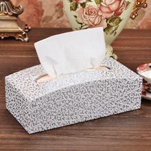 unique arch-shaped rectangle leather tissue box holder toilet paper storage 412A(China)