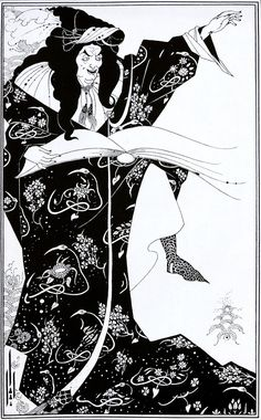 "Frontispiece to ""The wonderful History of Virgilius the Sorcerer of Rome"" by Aubrey Beardsley"