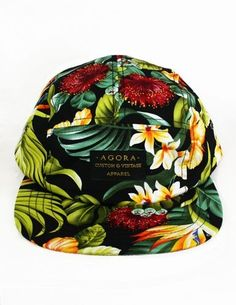 Agora 5 Panel Cap. A cute alternative to a Hawaiian shirt! Funky Hats 9df73e87034d