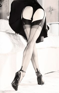 I love wearing stockings like these!