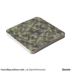 Camouflage military style pattern square paper coaster