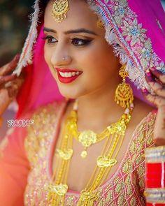 Types of Indian Jewelry Designs – Fashion Asia Most Beautiful Indian Actress, Beautiful Asian Women, Beautiful Bride, Indian Bridal Makeup, Indian Wedding Jewelry, Indian Jewelry, Sikh Bride, Punjabi Bride, Punjabi Suits
